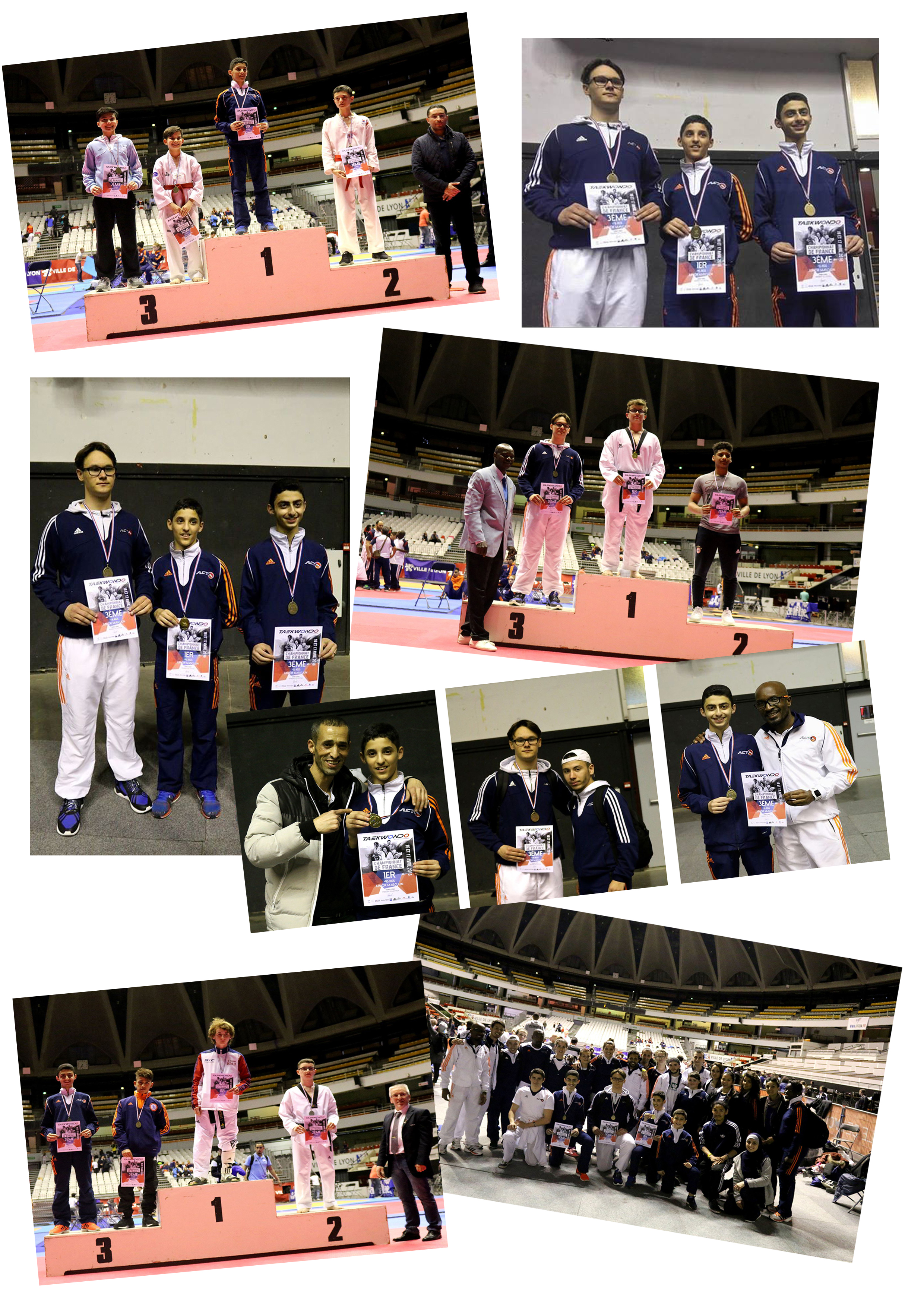 podiums CHAMPIONNATS DE FRANCE TAEKWONDO 2016 ACT PHOENIX
