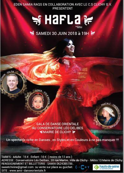 Samedi 30 juin 2018 Spectacle Danses orientales